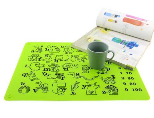 食品級兒童識字Silicone塗鴉餐墊
